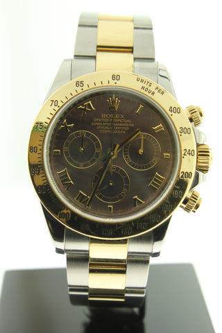 Rolex Cosmograph Daytona 116523 18K Yellow Gold & Stainless Steel 40mm Oyster Tahitian Mother of Pearl Dial - Arnik Jewellers