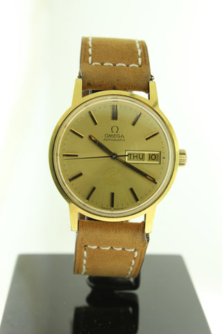 Omega Day Date Automatic Gold 35mm 35576540 17 Jewels - Arnik Jewellers