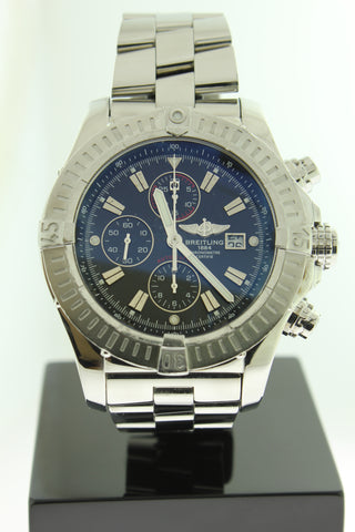 Breitling Super Avenger Automatic Chronograph Black Dial 48mm A13370 - Arnik Jewellers