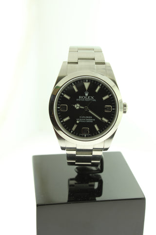 Rolex Explorer Oyster Stainless Steel Black Dial 214270 39mm - Arnik Jewellers