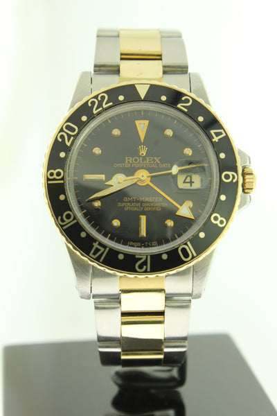 Rolex GMT Master 18K Yellow Gold & Stainless Steel 1675 40mm - Arnik Jewellers