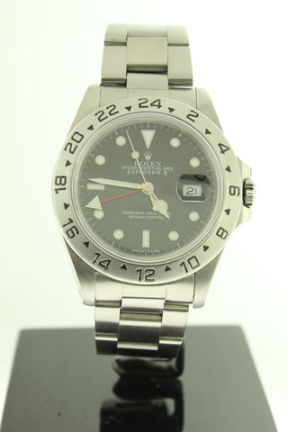 Rolex Explorer II Oyster Black Dial Stainless Steel 16570 40mm GMT - Arnik Jewellers