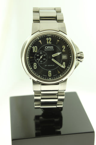 Oris Small Second Automatic Black Dial 39mm Stainless Steel 7496 - Arnik Jewellers