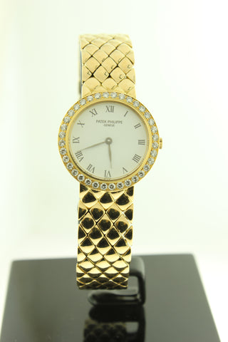 Patek Philippe Solid 18K Yellow Gold Ladies Diamond Bezel - Arnik Jewellers