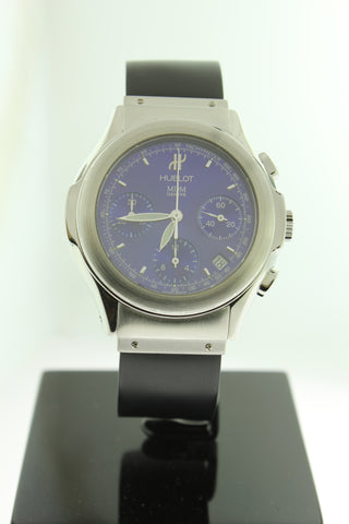 Hublot MDM Chronograph Automatic Stainless Steel Blue Dial 40mm 1810.1 - Arnik Jewellers