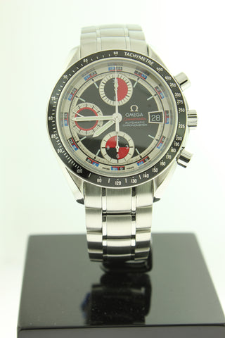 Omega Speedmaster Casino Automatic Stainless Steel Black White Red Dial 40mm 3210.52.00 - Arnik Jewellers
