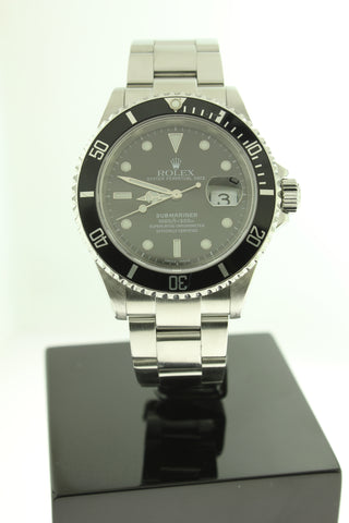 Rolex Submariner Date Stainless Steel 16610 40mm Black Dial - Arnik Jewellers
