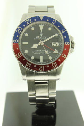 Rolex GMT Master Stainless Steel Oyster 1675 40mm Pepsi - Arnik Jewellers
