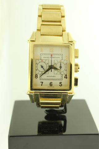 Girard Perregaux Vintage 1945 Solid 18K Gold Automatic Chronograph 2599 - Arnik Jewellers