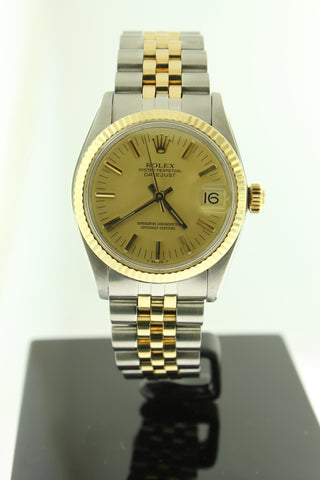 Rolex Datejust 31mm 18K Yellow Gold & Stainless Steel Champagne Dial 6827 - Arnik Jewellers