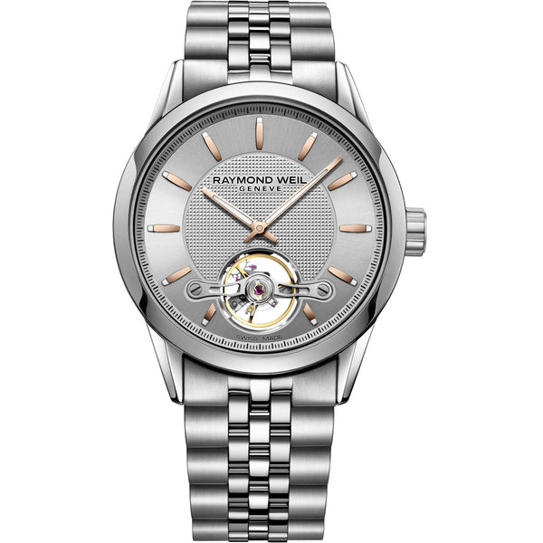 Raymond Weil Freelancer Steel Automatic Open Balance Wheel Calibre RW1212 2780-ST5-65001 - Arnik Jewellers