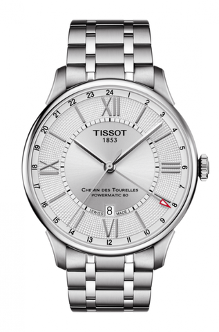 Tissot CHEMIN DES TOURELLES POWERMATIC 80 GMT T099.429.11.038.00 - Arnik Jewellers
