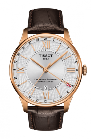 Tissot CHEMIN DES TOURELLES POWERMATIC 80 GMT T099.429.36.038.00 - Arnik Jewellers