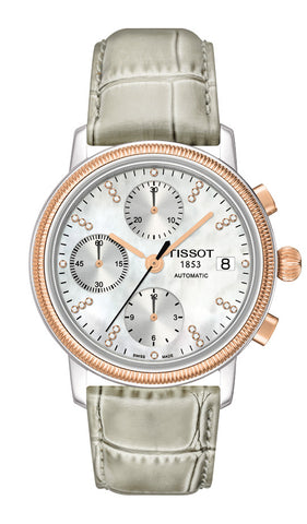 Tissot Bridgeport Automatic Valjoux 18K Gold Lady T71.1.479.76 - Arnik Jewellers