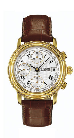 Tissot Bridgeport Automatic Valjoux 18K Gold Lady T71.3.435.33 - Arnik Jewellers