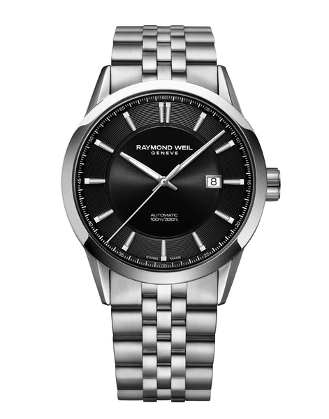 Raymond Weil Freelancer Automatic Classic Stainless Steel Watch 42mm Black Dial 2731-ST-20001 - Arnik Jewellers