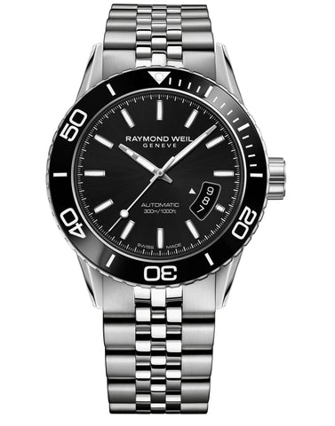 Raymond Weil Freelancer Automatic 42.5mm Black Dial Stainless Steel 2760ST120001 - Arnik Jewellers