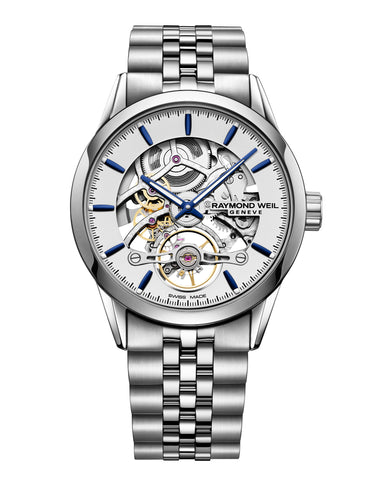 Raymond Weil Freelancer Calibre RW1212 Skeleton Automatic Steel 42mm 2785-ST-65001 - Arnik Jewellers