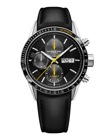 Raymond Weil Freelancer Automatic Chronograph 42mm Stainless Steel Black Dial 7731-SC1-20121 - Arnik Jewellers