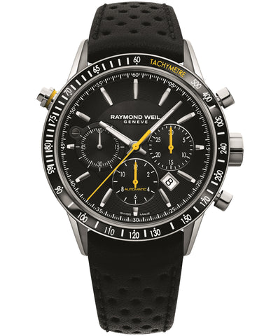Raymond Weil Freelancer Automatic Chronograph 43.5mm Stainless Steel Black Dial 7740SC120021 - Arnik Jewellers
