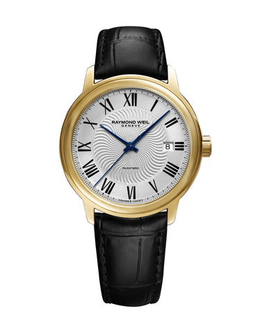 Raymond Weil Maestro Automatic 39.5mm Yellow Gold PVD 2237PC00659 - Arnik Jewellers