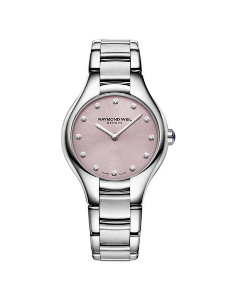 Raymond Weil Noemia Quartz 32mm Stainless Steel Pink Diamond Dial 5132ST80081 - Arnik Jewellers
