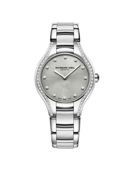 Raymond Weil Noemia Quartz 32mm Stainless Steel Silver Diamond Case & Dial 5132STS65081 - Arnik Jewellers