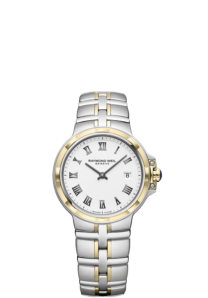 Raymond Weil Parsifal Two Tone Ladies Quartz Classic White Dial 30mm 5180-STP-00300 - Arnik Jewellers