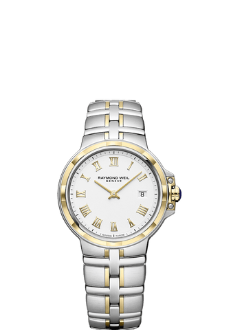 Raymond Weil Parsifal Two Tone Ladies Quartz Classic White Dial 30mm 5180-STP-00308 - Arnik Jewellers