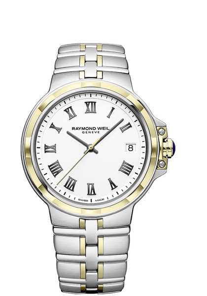 Raymond Weil Parsifal Two Tone Men's Quartz Classic White Dial 41mm 5580-STP-00300 - Arnik Jewellers