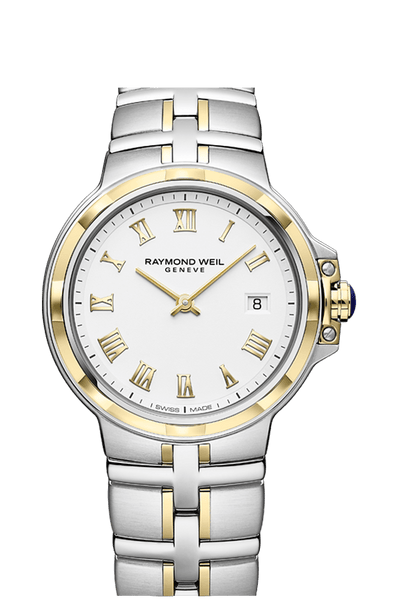 Raymond Weil Parsifal Two Tone Men's Quartz Classic White Dial 41mm 5580-STP-00308 - Arnik Jewellers