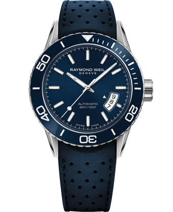 Raymond Weil Freelancer Automatic 42.5mm Blue Dial Stainless Steel 2760-SR3-50001 - Arnik Jewellers