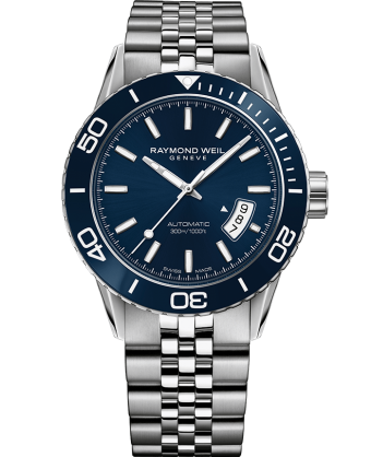 Raymond Weil Freelancer Automatic 42.5mm Blue Dial Stainless Steel 2760-ST3-50001 - Arnik Jewellers