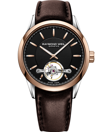 Raymond Weil Freelancer Two Tone Automatic Open Balance Wheel Calibre RW1212 2780-SC5-20001 - Arnik Jewellers