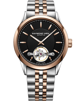 Raymond Weil Freelancer Two Tone Automatic Open Balance Wheel Calibre RW1212 2780-SP5-20001 - Arnik Jewellers