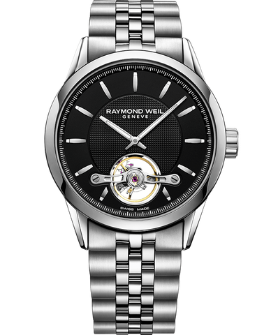Raymond Weil Freelancer Automatic Open Balance Wheel Calibre RW1212 2780-ST-20001 - Arnik Jewellers