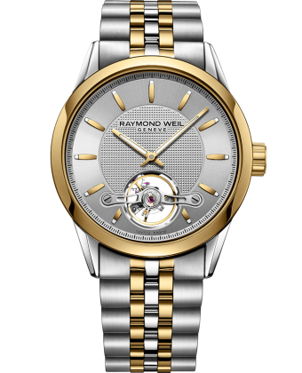 Raymond Weil Freelancer Two Tone Automatic Open Balance Wheel Calibre RW1212 2780-STP-65001 - Arnik Jewellers
