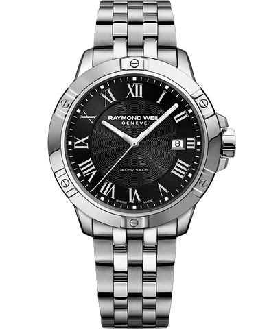 Raymond Weil Mens Tango 8160 Stainless Steel Black Dial 8160-ST-00208 Watch - Arnik Jewellers