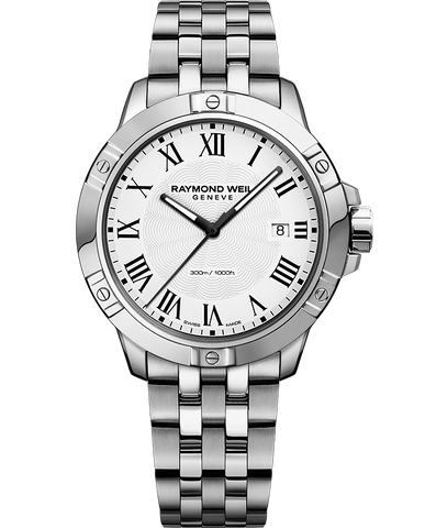 Raymond Weil Mens Tango 8160 Stainless Steel White Dial 8160-ST-00300 Watch - Arnik Jewellers