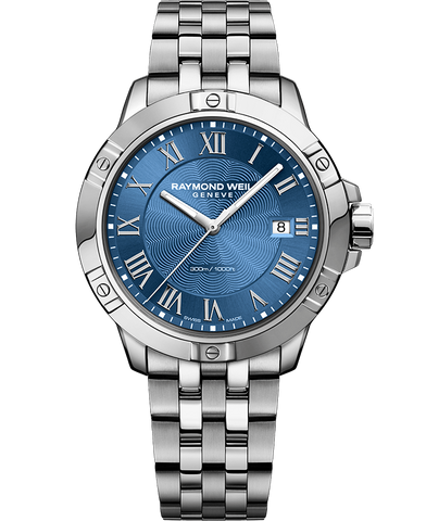 Raymond Weil Mens Tango 8160 Stainless Steel Blue Dial 8160-ST-00508 Watch - Arnik Jewellers