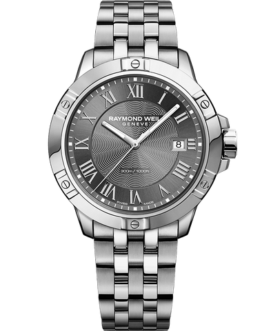 Raymond Weil Mens Tango 8160 Stainless Steel Grey Dial 8160-ST-00608 Watch - Arnik Jewellers