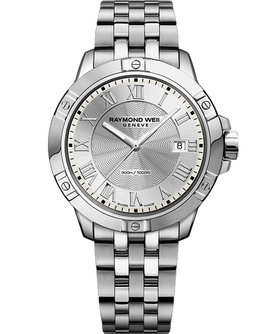 Raymond Weil Mens Tango 8160 Stainless Steel Silver Dial 8160-ST-00658 Watch - Arnik Jewellers