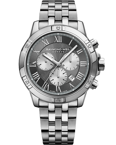 Raymond Weil Mens Tango Chronograph Stainless Grey Silver Dial 8560-ST-00606 Watch - Arnik Jewellers