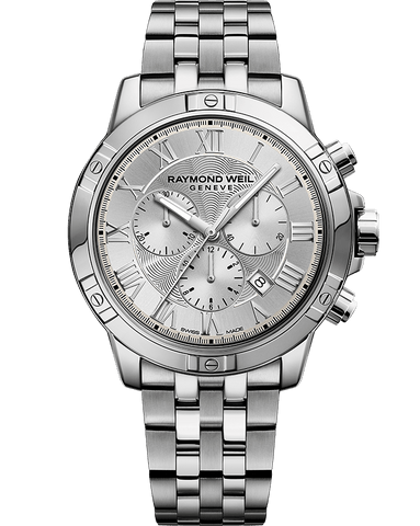 Raymond Weil Mens Tango Chronograph Stainless Grey Silver Dial 8560-ST-00658 Watch - Arnik Jewellers