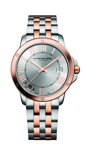 Raymond Weil Tango Quartz 39mm Rose Gold PVD/Stainless Steel Silver Dial 5591SB500658 - Arnik Jewellers