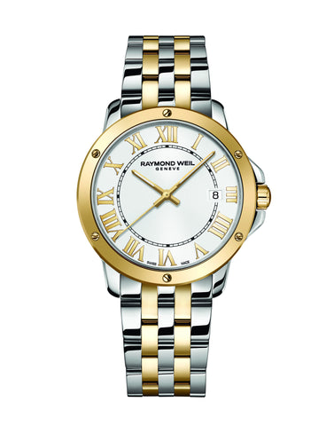 Raymond Weil Tango Quartz 39mm Yellow Gold PVD/Stainless Steel 5591STP00308 - Arnik Jewellers