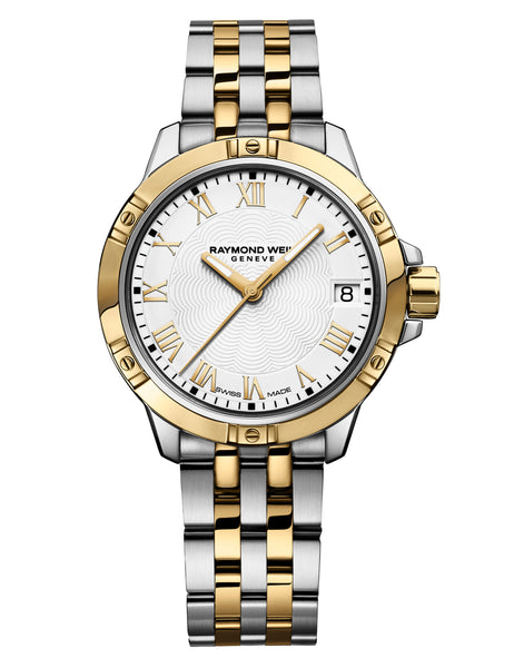 Raymond Weil Tango Quartz 30mm Two Tone Steel & Gold White Dial 5960-STP-00308 - Arnik Jewellers