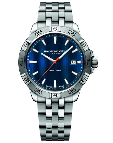 Raymond Weil Tango 300 Quartz 41mm Stainless Steel Blue Dial 8160ST250001 - Arnik Jewellers