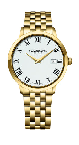 Raymond Weil Toccata Quartz 39mm Yellow Gold PVD 5488P00300 - Arnik Jewellers