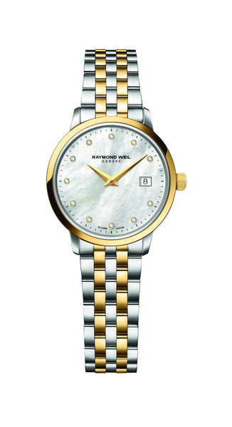Raymond Weil Toccata Quartz 29mm Yellow Gold PVD/Stainless Steel Mother of Pearl Diamond Dial 5988STP97081 - Arnik Jewellers